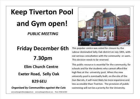 Tiverton pool poster
