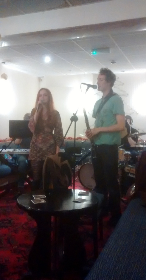 Heather and Leander  fronting up Midnight Magpie