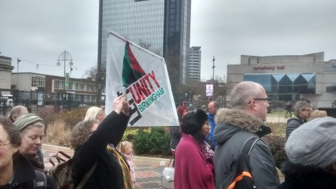 Left Unity activists were involved in building the rally